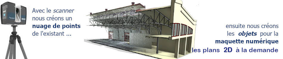 scanner faro pour maquette 3d BIM